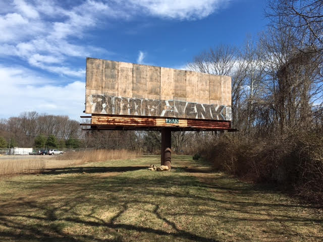 Before image of billboard in Philadelphia